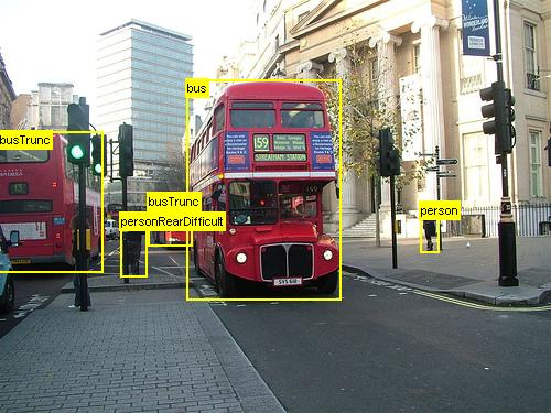 Double decker red buses image