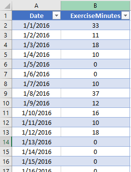 Excel table image